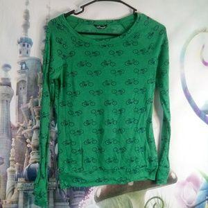 Wallflower green long sleeved tee